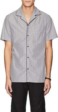 Officine Generale Men's Striped Cotton Poplin Camp Shirt