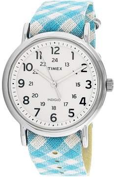 Timex Women's Weekender TW2R24400 Blue Nylon Analog Quartz Fashion Watch