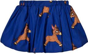 Mini Rodini Blue Donkey Woven Balloon Skirt