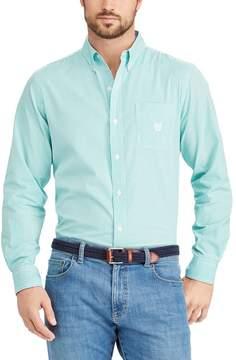 Chaps Big & Tall Classic-Fit Striped Button-Down Shirt