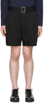 Issey Miyake Black Cupro Belted Shorts