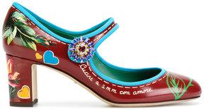Dolce & Gabbana printed Mary Jane pumps