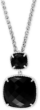 Effy Black Onyx (14-4/5 ct. t.w.) Pendant Necklace in Sterling Silver