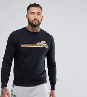 Ellesse Tiberio Crew Neck Sweatshirt In Black