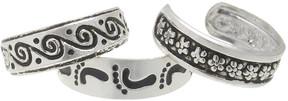 Carole Silvertone Swirl Toe Ring Set