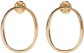 Delfina Delettrez Gold Little Ear-Clipse Earrings