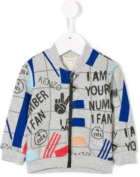 Kenzo multiprint zipped sweatshirt