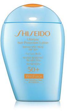 Shiseido Ultimate Sun Protection Lotion WetForce for Sensitive Skin & Children Broad Spectrum SPF 50+/3.3