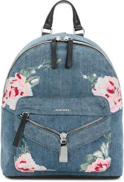 Diesel embroidered denim backpack