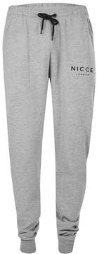 Nicce Gray Marl Soft Touch Relaxed Fit Joggers