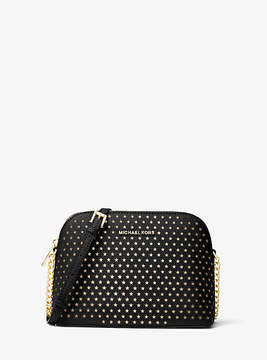 Michael Kors Cindy Perforated Saffiano Leather Crossbody - BLACK - STYLE