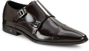 Versace Men's Double Monk Leather Shoes