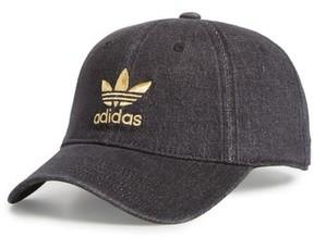 adidas Men's Washed Denim Ball Cap - Black