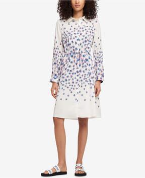 DKNY Floral-Print Drawstring-Waist Shirtdress, Created for Macy's