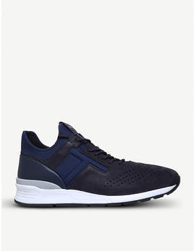 Tod's Tods Neoprene and leather hi-top running trainers
