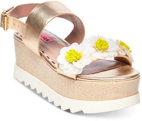Betsey Johnson Pipper Wedge Sandals Women's Shoes
