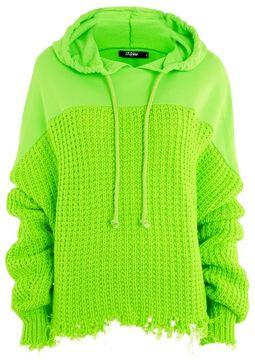 Jaded London **oversized knitted hoodie
