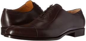 a. testoni Lux Calf Oxford with Cap Toe Men's Lace Up Cap Toe Shoes