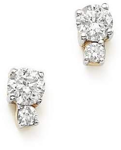 Adina 14K Yellow Gold Amigos Tiny Double Diamond Stud Earrings
