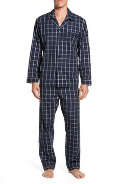 Majestic International Men's Channing Windowpane Pajama Set