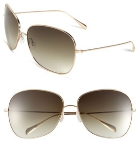 Oliver Peoples Women's Elsie 64Mm Oversize Metal Sunglasses - Gold/ Olive Gradient