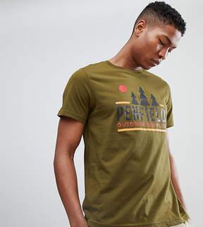 Penfield Treeline Logo Print T-Shirt EXCLUSIVE in Green