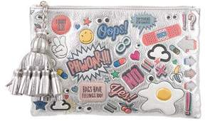 Anya Hindmarch Georgiana All Over Stickers Clutch