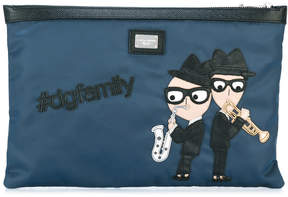 Dolce & Gabbana designer's patch clutch