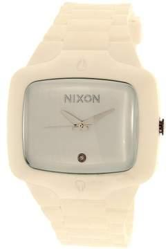 Nixon Men's Rubber Player A139100 White Silicone Quartz Fashion Watch