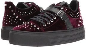 The Kooples Velvet Trainers with Studs Women's Shoes