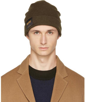 Stella McCartney Khaki Members and Non Members Only Beanie