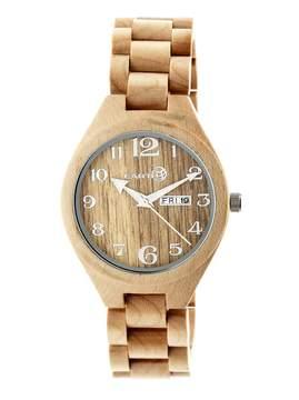 Earth Eco-Friendly Khaki/Tan Wood Sapwood Watch
