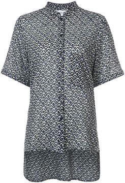Apiece Apart mandarin-collar printed blouse