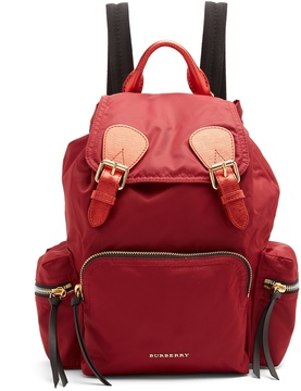 Burberry Medium nylon backpack - RED - STYLE
