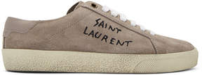 Saint Laurent Pink Suede SL/06 Court Classic Sneakers