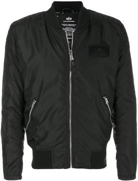 Alpha Industries logo bomber jacket