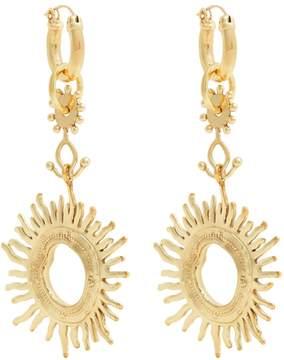 Ellery Strangerland sun gold-tone earrings