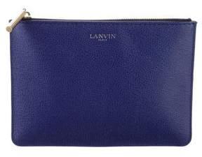 Lanvin Textured Leather Clutch