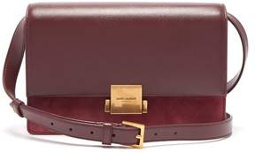 Saint Laurent Bellechase Leather And Suede Cross Body Bag - Womens - Burgundy