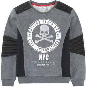 Philipp Plein Graphic sweatshirt with rhinestones