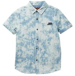 7 For All Mankind Short Sleeve Woven Shirt (Little Boys)