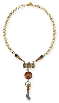 Devon Leigh Antiqued Statement Tassel Necklace