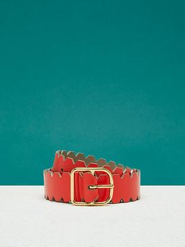 Diane von Furstenberg Single Notch Scalloped Belt