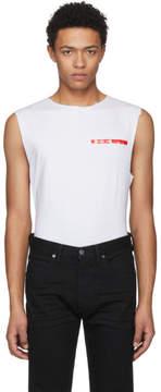Helmut Lang White Shayne Oliver Raw Edge Muscle T-Shirt