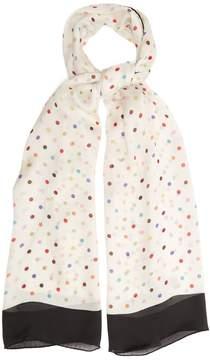Valentino Polka-dot chiffon scarf
