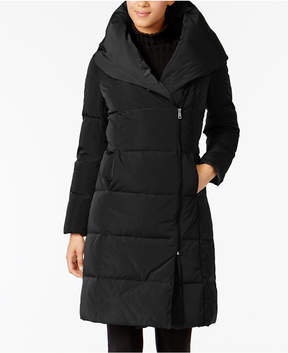 Cole Haan Signature Asymmetrical Pillow-Collar Puffer Coat