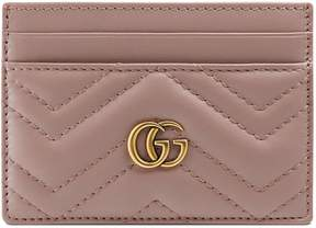 Gucci GG Marmont card case - NUDE MATELASSé LEATHER - STYLE