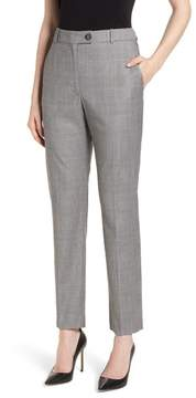 BOSS Tofilia Glencheck Slim Fit Trousers