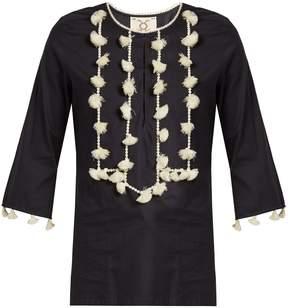 Figue Zita tassel-embellished cotton top