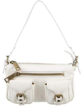 Marc Jacobs Leather Shoulder Bag - WHITE - STYLE